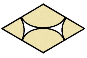 円形ひし形